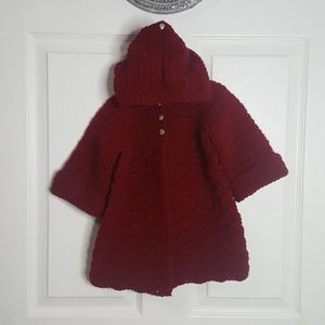 Other - Crochet sweater coat with matching beret.